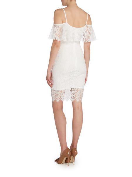 Jessica Wright Cold Shoulder Lace Bodycon Dress