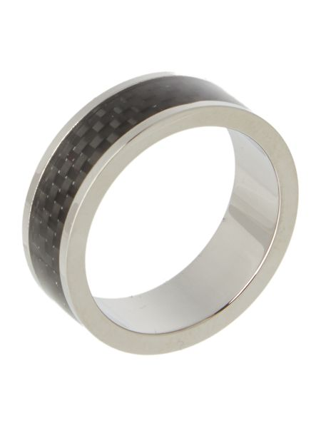 Ted Baker Carb Carbon Fiber Inlay Ring