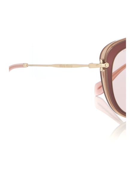 Miu Miu Brown round 0MU 13NS sunglasses