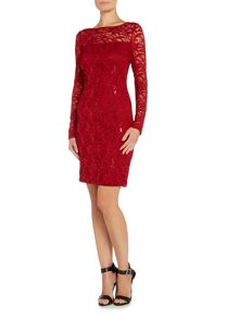 JS Collections Long sleeve dress with sequin lace
