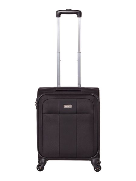 Antler Salisbury black 4 wheel soft cabin suitcase