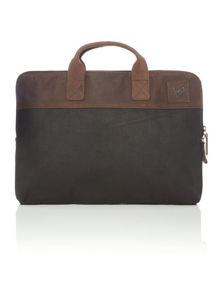 Lyle and Scott Canvas Laptop Bag