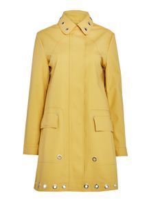 Hunter Rubber coat with eyelet trim
