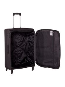 Antler Salisbury black 4 wheel soft large suitcase