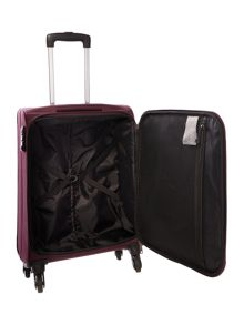 Antler Salisbury purple 4 wheel soft cabin suitcase