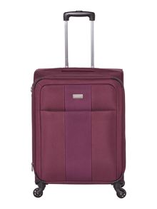 Antler Salisbury purple 4 wheel soft medium suitcase