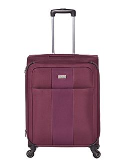 Salisbury purple 4 wheel soft medium suitcase
