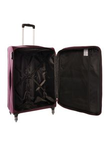 Antler Salisbury purple 4 wheel soft large suitcase