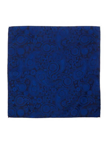 Simon Carter Woven Paisley Pocket Square