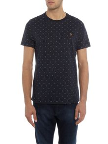 Farah Hurst regular fit arrow embroidery t shirt