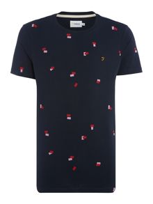 Farah Merton regular fit square print t shirt