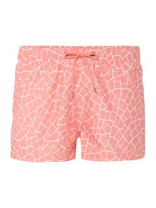 Boardies Short Length Cracked Print Swim Shorts