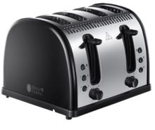 Russell Hobbs Legacy Black 4 Slot Toaster