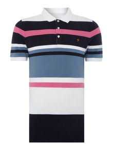 Farah Crowther regular fit varigated stripe polo shirt