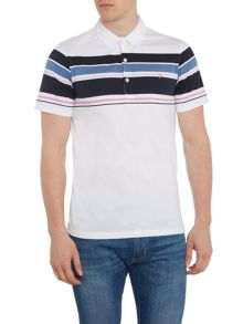 Farah Helmstead regular fit chest stripe polo shirt