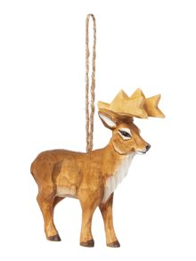 Linea Carved Reindeer decoration