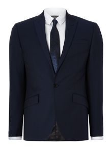 Kenneth Cole Morgan SB1 slim fit peak lapel suit jacket