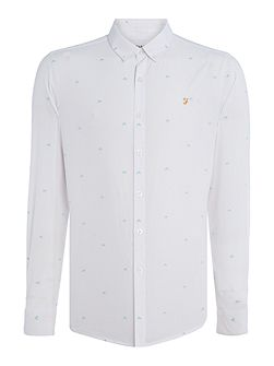 Derrett regular fit arrow embroidery shirt