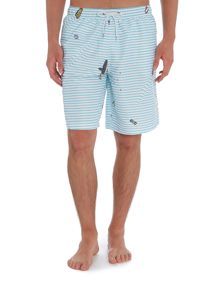 Boardies Long Length Ripple Print Swim Shorts