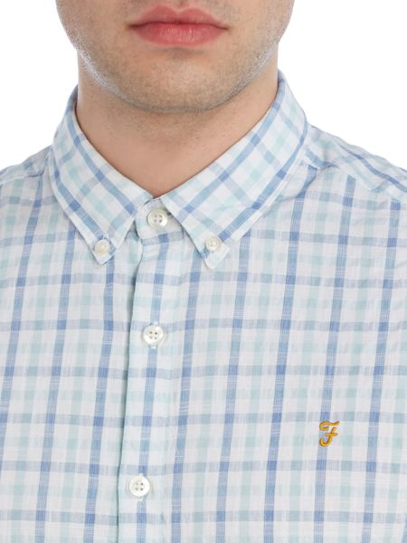 Farah Cosford regular fit gingham short sleeve shirt