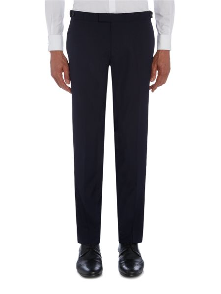 Kenneth Cole Reginald slim fit tuxedo trouser with satin panel