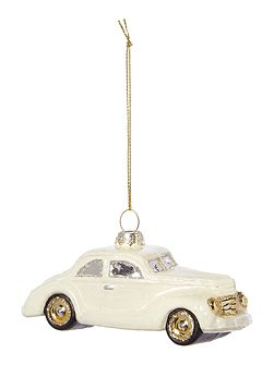 Retro car decoration in cream