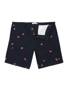 Farah Bristow regular fit geo print short