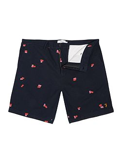 Bristow regular fit geo print short