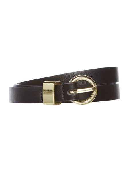 Therapy Therapy metal keeper skinny belt
