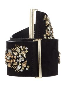 Biba Biba embellished jewel waist belt