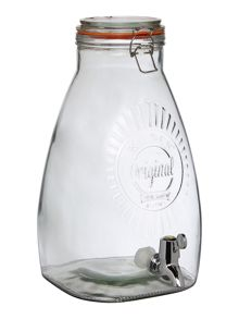 Kilner 8L SQUARE DRINKS DISPENSER