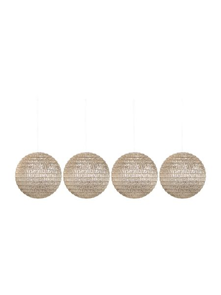 Linea Set of 4 champagne disco baubles