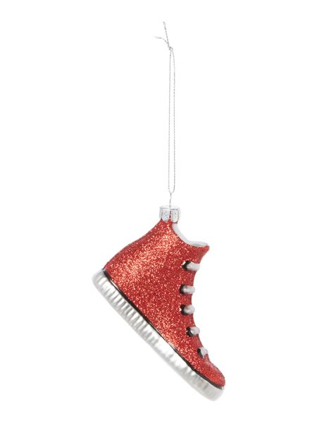 Linea Red glitter trainer tree decoration