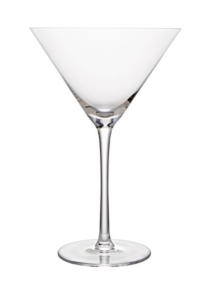 Linea Sienna crystal martini glass set of 6