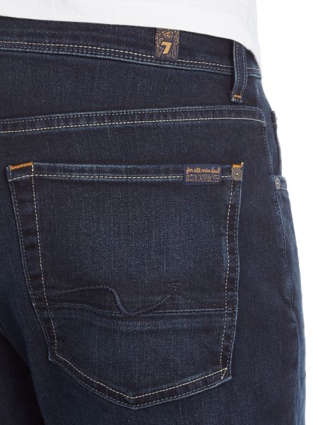 7 For All Mankind Slim fit American Shoreline Blue Black Wash Jeans