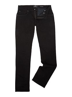 Straight Fit Luxe Performance Soho Black Jeans