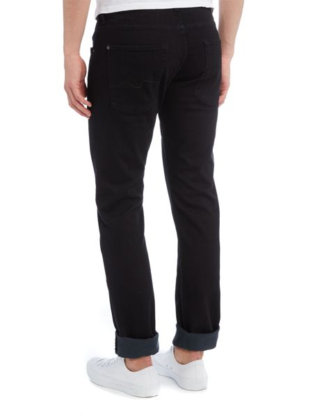 7 For All Mankind Straight Fit Luxe Performance Soho Black Jeans