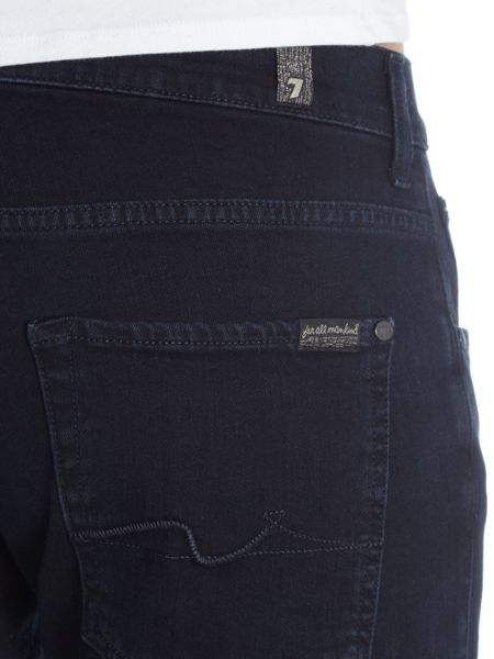 7 For All Mankind Straight Luxe Performance Soho Deep Blue Jeans
