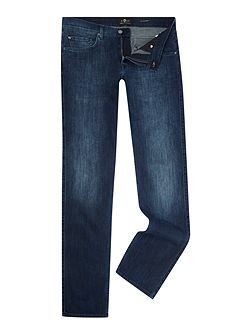 Straight Fit Luxe Performance Soho Blue Jeans