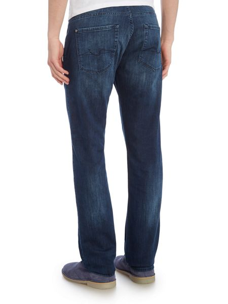 7 For All Mankind Straight Fit Luxe Performance Soho Blue Jeans