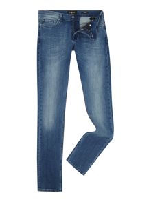 7 For All Mankind Skinny Fit Luxe Performance Tex Dark Blue Jeans