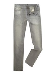 7 For All Mankind Skinny Fit American Shoreline Grey Wash Jeans