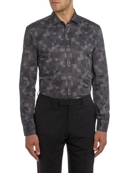 Hugo Boss Isaak Abstract Spot Print Shirt