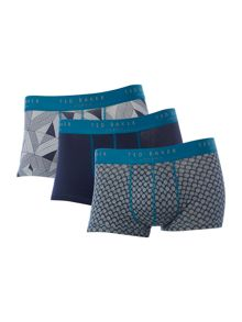 Ted Baker Icons 3 Pack Geo Prisim And Plain Trunks