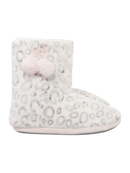 Therapy Leopard Slipper Bootie