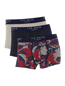 Charger 3 Pack Floral And Plain Trunks