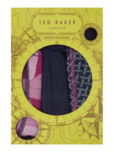 Ted Baker Hall 3 Pack Geo Prisim And Plain Trunks