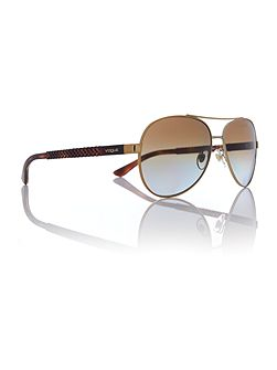 Gold pilot VO3997S sunglasses