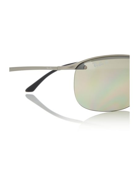 Ray-Ban Gunmetal rectangle RB3542 sunglasses