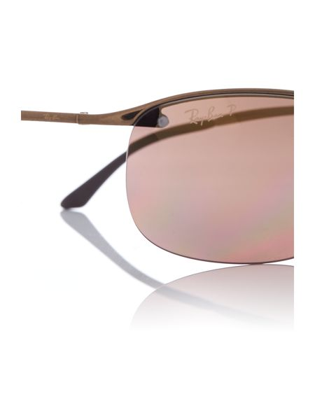 Ray-Ban Brown rectangle RB3542 sunglasses